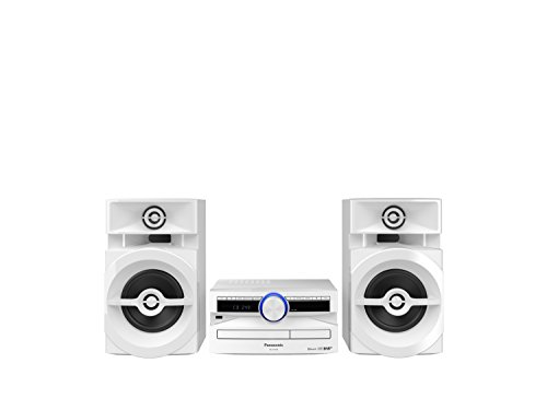 Panasonic SC-UX104EG-W CD-Micro-Musik (Bluetooth,  Tuner (DAB+/FM), USB, AUX-IN, DJ Jukebox, 300 Watt RMS) weiß