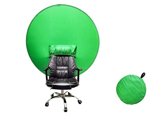 2021 New Green Screen Backdro, Faltbarer Fotografie-Hintergrund, 4,65 Fuß runder grüner Hintergrund Fotografie-Hintergrundbildschirm für Photo Video Studio (L)