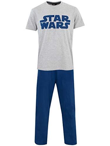 Star Wars Pijama para Hombre La Guerra de Las Galaxias Azul X-Large