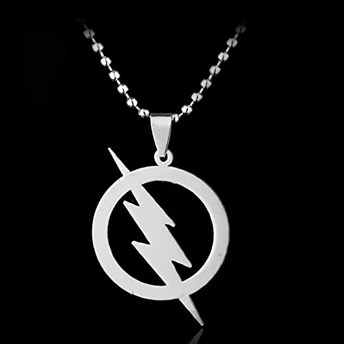 Chenfeng Collar de Hombre Superhéroe Flash Collar Super Hero Lightning Logo Collares Pendientes para Mujeres Hombres Accesorios de joyería de Moda Regalo para Esposo y Novio