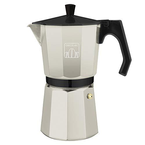 Cecotec Cafetière italienne MokClassic 900 Beige, En aluminium fondu de haute qualité, Convient pour cuisinières à gaz, électriques ou vitrocéramiques, 9 tasses de café