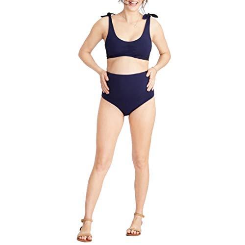 Bikinis für Schwangere Umstandsbademode Umstandsbadeanzug Damen Schwangerschafts Bademode mit Shorts Set Zweiteiliger Mutterschaft Umstandsbikini/L