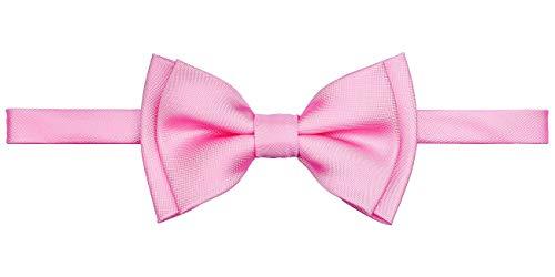 Retreez sólido mate color Tejido microfibra PRE-TIED Boy de la pajarita Rosa rosa 8-10 Año