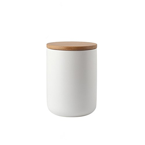 OnePine Vorratsdosen Keramik mit Bambusdeckel Vorratsdose Kaffeedose Teedose - 800ml/27 oz Keramik Aufbewahrungsdosen für Tee Kaffee Bohne Zucker Gewürz Nüsse Korn