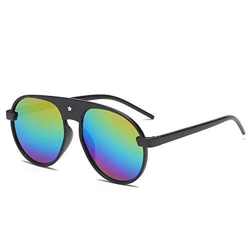 P-WEIAN zonnebril, modieus, voor dames en heren, veelzijdig inzetbaar Moyen Cadre arc en ciel noir