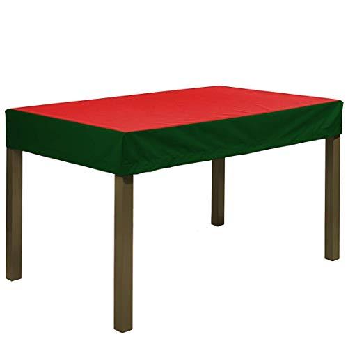 Planesium Premium - Funda protectora para mesa de jardín (300 x 250 x 15 cm), color rojo y verde