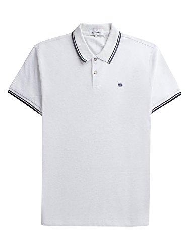 Ben Sherman Herren Regular Fit Poloshirt Romford Polo, Weiß (White), Large
