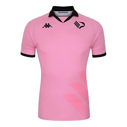 BasicNet SpA Palermo FC Gara Home Kombat 2020/21 Kappa - Camiseta XXL, color rosa y negro