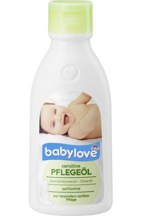 babylove Babyöl Pflegeöl sensitive, 250 ml