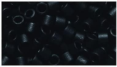 Shipwreck Beads 8/0 DBL0310 Miyuki Delica Seed Bead, Opaque Black Matte