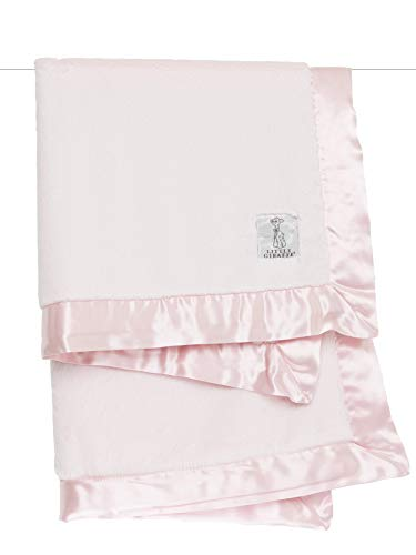 Little Giraffe Luxe Stroller Baby Blanket, Pink, 29' x 35'