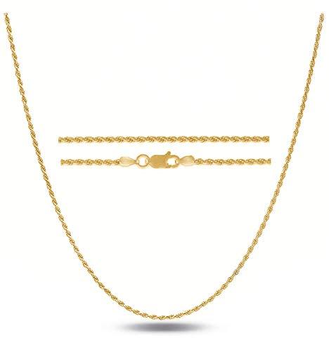 Sterling Silver .925 Italian Diamond Cut Rope Chain 1.2MM 16
