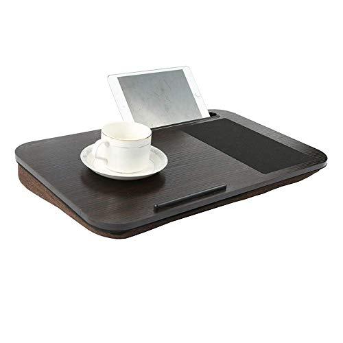 Jsmhh Tabla escritorio del ordenador portátil for la cama y un sofá, cama ergonómica desayuno sostenedor de la bandeja libro, for el hogar y la oficina, bien construido y muy resistente