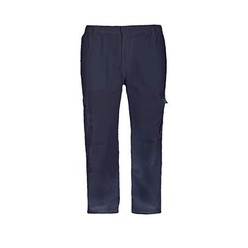 Pantalón de Trabajo para Adulto Blanco/Negro/Gris/Azul Marino Uniforme Laboral (XL, Azul Marino)
