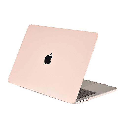 AJYX Funda Compatible MacBook Air 13 (Modelo A1466 A1369), Carcasa Rígida Protector de Plástico Soft Touch Cover para MacBook Air 13.3 Pulgadas (Versión 2010-2017), NY Rosa