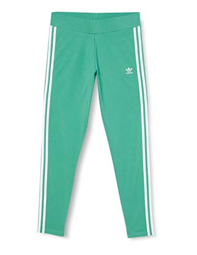 adidas Damen 3 Str Tight, grün (future hydro f10/White), 34