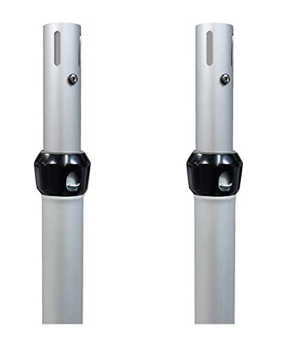 Urquid Linen, Pipe and Drape Adjustable Uprights (poles) for Drape Systems for Backdrops, Trade shows, Events, Photo booths and Decorations (2 Pack, 7-12 FT)