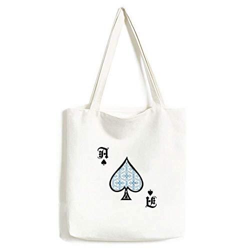 Talavera Deko-Muster, Handtasche, Pokerspaten, waschbar, Blau