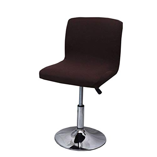 ZHFEL Barhocker-Schonbezüge,Stretch Stuhlhussen Abnehmbarer Waschbarer Anti-Staub Bar Stuhlbezug kurzen Drehstuhl Stuhlüberzug für Esszimmer Küche Bar-Braun