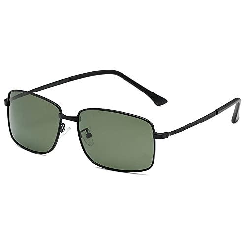 XJW Gafas de sol polarizadas de moda para hombre y mujer, con caja de protección UV, gafas de sol para deportes al aire libre 2021/5/27 (color: negro y verde)