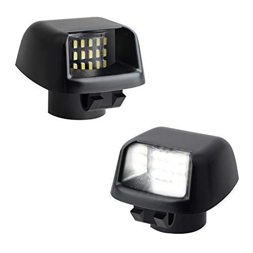 RUXIFEY LED License Plate Lights Rear Lamp Replacement Compatible with Frontier Titan Xterra Armada Suzuki Equator