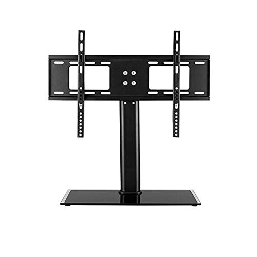 Soporte de TV de sobremesa Universal Soporte de TV de Mesa giratoria Universal para Altura de Pantalla Curva Plana de 32 a 55 Pulgadas Soporte de Pedestal con Vidrio Templado