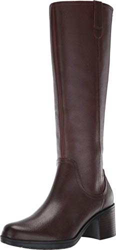Clarks Women's Hollis Moon Knee High Boot, Mahogany Leather, 80 M US