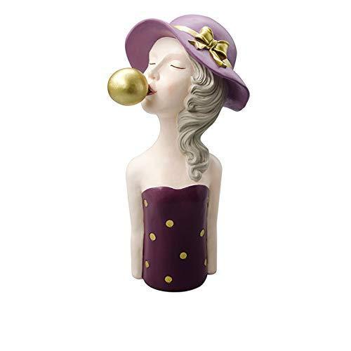 JIAXIN Esculturas Decorativas Escultura Estatua De Niña Burbuja Figuras Modernas De Niña...