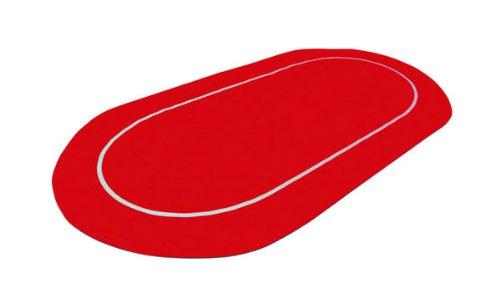 Pokerbarato - Tapete de poker enrollable de neopreno, color rojo: Amazon.es: Juguetes y juegos