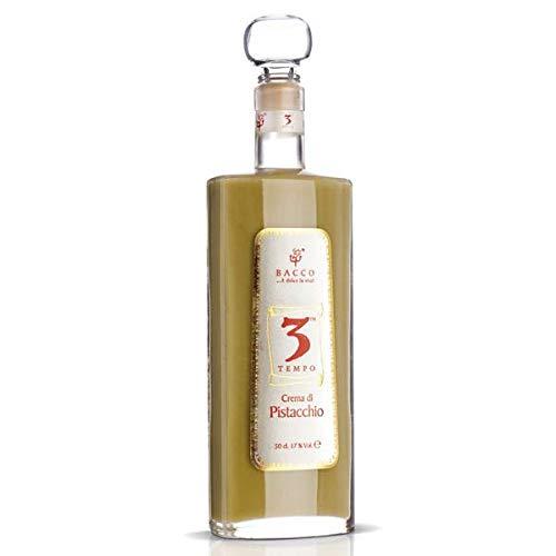 Bacco Pistazienlikör aus Italien, Sizilien, Bronte, Sahne, Pistazien Geschmack, Schnaps, Likör, Crema di Pistacchio, 500 ml…