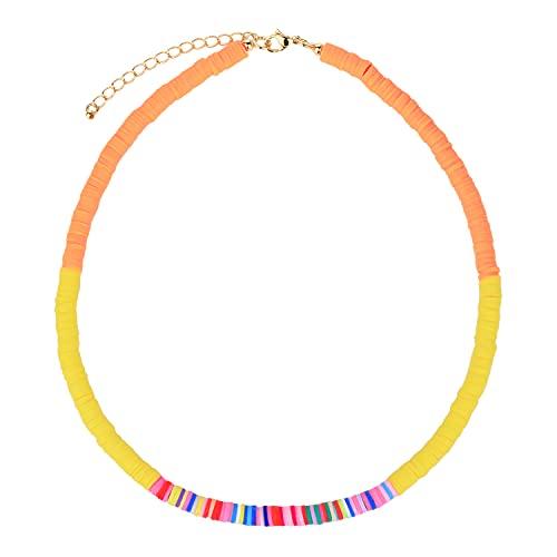 KANYEE Colliers Multicolores Colliers Réglables De Perles HEISHI Faits à La Main Colliers Ras du Cou D'amitié pour Femmes-02C