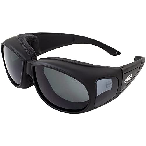 Global Vision Outfitter Padded Fit-Over Motorcycle Safety Sunglasses (Smoke Lens)