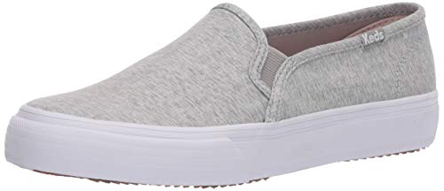 Keds womens Double Decker Heathered Woven Sneaker, Light Grey, 7.5 US