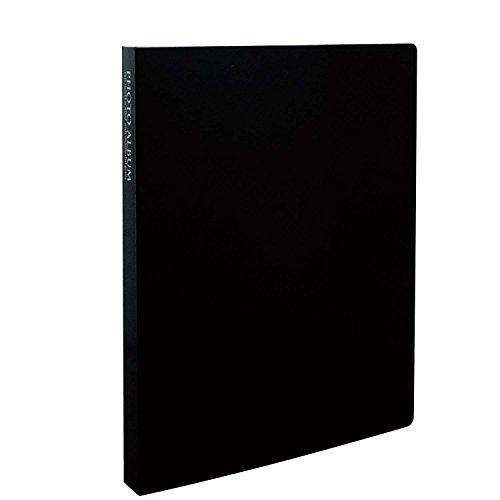SEKISEI アルバム ポケット フォトアルバム 高透明 Lサイズ 80枚収容 L 51~100枚 ブラック KP-80M