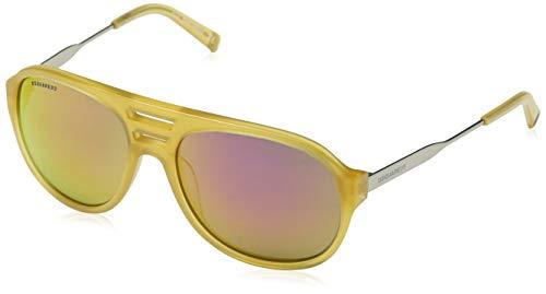 DSQUARED2 Sonnenbrille Dq0185 39z 58 Gafas de sol, Amarillo (Gelb), 58.0 para Hombre