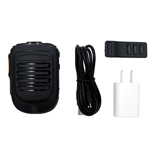 Mcbazel - Micrófono de altavoz inalámbrico PTT con indicador LED, micrófono flexible para Inrico T320 T298S