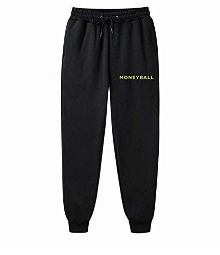 AILIBOTE Moneyball Unisex Graphic Fashion Pants Sweatpants Herren Damen Fleece Gym Jogger Gr. 34-37, Schwarz