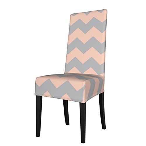 Fundas elásticas para silla de silla Zig Zag, Chevron Pastel Rosa y Gris Azulejo Protector Protector de silla extraíble lavable suave silla de comedor para cocina, hogar restaurante
