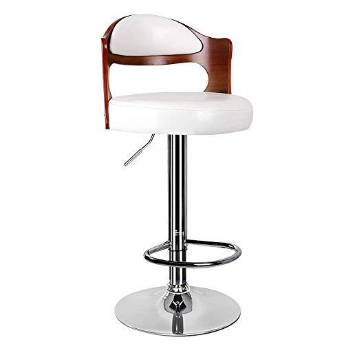 ZWWZ Silla giratoria ergonómica Hood Moderno Minimalista Minimalista Barra de Madera sólido, con Respaldo Europeo Europeo Superior ROTANTE HABLE Table, Silla DE CAJEDA DE RECORRIDAD (Blanco) MISU