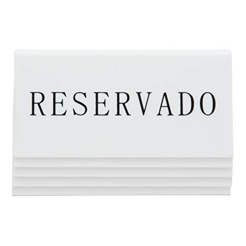 SECURIT español de plástico Reserva Soportes de Mesa, Juego de 5, Blanco 🔥