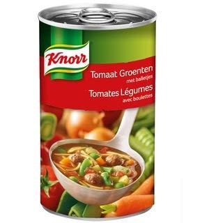 Knorr Blik Soep Tomaten. groenten en balletjes 515 ml