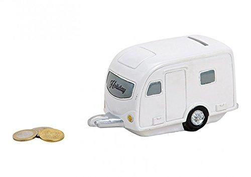 Wurm KG wunderschöne moderne Spardose,Sparbüchse Wohnwagen Wohnanhänger Campingfahrzeug ca. 15 cm groß