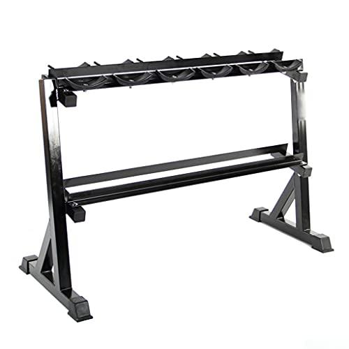 Porta manubri Supporto per Rack di Posizionamento dei manubri Adatto per riporre Uno Strato di manubri esagonali e Uno Strato di manubri Rotondi Attrezzatura da Palestra