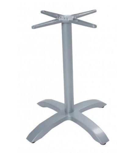 Metall Gastronomie Tischgestell Picos Tischbein Untergestell Bistro Tisch silber