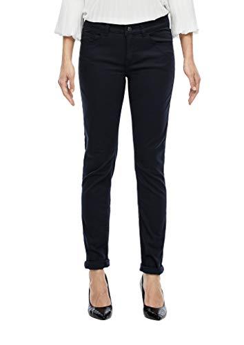 s.Oliver BLACK LABEL Damen 1899713916 Skinny Jeans, Dark Navy, 42 Herstellergröße 30 EU
