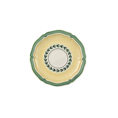 Villeroy & Boch French Garden Fleurence Mokka-/ Espresso-Untertasse, 13 cm, Premium Porzellan, Weiß/Bunt