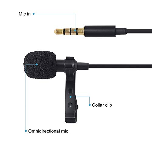 Drumstone Dual Mic Clip-On Microphone For Smartphone Mobile Phone, Tablets,DSLR Camera, Interview, Podcast, Video, Youtube (5 Feet)