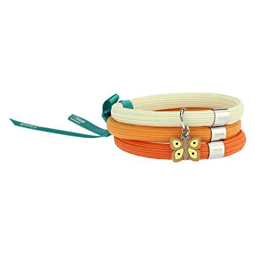 THUN - Bracciale elastico arancione Impulse'Farfalle in festa' con farfalla (Orange)