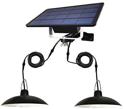 AIOJY Doppelköpfe Led Solar-Licht Solar-Notfalllampe Im Freien Wasserdicht Für Gartenhaus Kronleuchter
