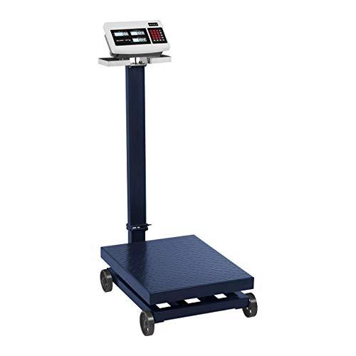 Steinberg Balance Plateforme Professionnelle Industrielle Pèse-Colis Roulante Roulant SBS-PF-600/100 (600 kg, Précision ±100 g, Autonomie 120 H, 40x30 cm, LCD, 4 Roulettes, Trépied Rabattable)